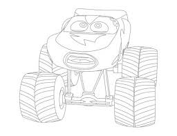 cars lightning mcqueen monster truck coloring page funs 388982