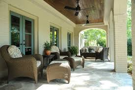 stained porch ceiling porch traditional with patio furniture