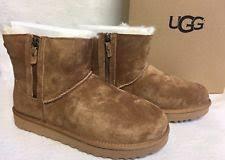 s ugg australia mini zip boots ugg australia zip suede comfort shoes for ebay