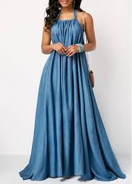 what is a maxi dress halter neck backless blue maxi dress modlily usd 34 85
