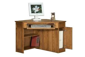mission oak corner computer desk oak corner desks for home image 1 oak corner desk home office