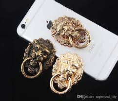 silver lion ring holder images Universal retro lion style finger ring holder phone stand for jpg