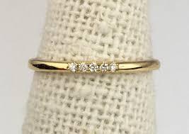 thin gold wedding band 5 14k gold dainty thin wedding band fg136 chic r me