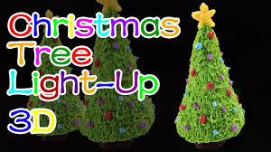 how to make light up christmas tree holiday christmas 3d
