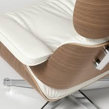 vitra eames lounge chair u0026 ottoman walnut white