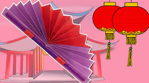 learn how to make a chinese fan easy diy paper fan craft