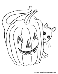 Halloween Coloring Pages Pumpkin Pumpkin And Black Cat Color Page Create A Printout Or Activity