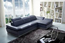 real leather sectional sofa modern midnight blue italian leather sectional jm1799 modern