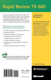 mcts 70 680 rapid review configuring windows 7 amazon co uk