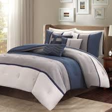 Navy Blue Coverlet Queen Madison Park Warner Navy And Gray Comforter Set At Overstock Com