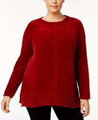 chenille sweater style co plus size high low hem chenille sweater created for