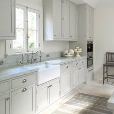 light grey kitchen cabinets with white countertops kitchen plan light gray cabinets farm house sink same