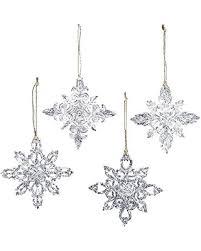 slash prices on kurt adler 3 5 inch acrylic snowflake ornament set