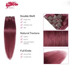 remy clip in hair extensions hair products color 99j clip wefts remy clip in hair