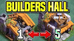 builders hall levels 1 5 details night village update clash