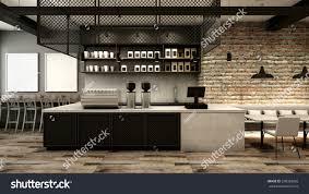 cafe shop restaurant design modern loft stock illustration