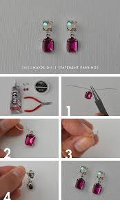 make stud earrings diy rhinestone statement earrings diy craft