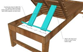 Free Plans For Making Garden Furniture by Ana White Build A Outdoor Chaise Lounge Free And Easy Diy