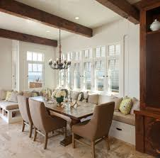 san diego built in bench dining room beach style with transitional