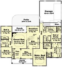 Floor Plans With Porches by European Style House Plan 4 Beds 3 00 Baths 2400 Sq Ft Plan 430 48