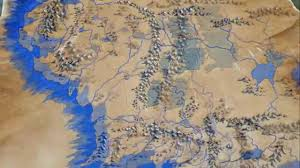a map of middle earth the of a map of middle earth