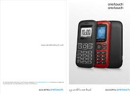alcatel onetouch mobile phones one touch 132 pdf owner u0027s manual