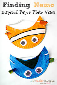 Paper Plate Craft Ideas For Kids Finding Nemo Movie Inspired Paper Plate Visor Hat For Kids