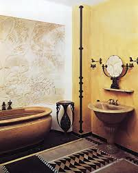 stunning art deco style bathroom design ideas classic red art deco bathroom