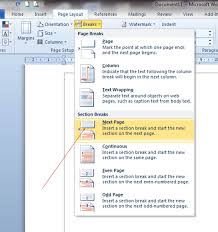 cara membuat nomor halaman yang berbeda di word 2013 cara membuat halaman berbeda dalam satu file di ms word 2007 2010