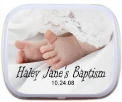 personalized baptism favors personalized mint tins and candy tins custom mint tins and candy