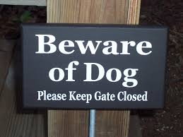 beware of dog please keep gate closed wood vinyl yard garden