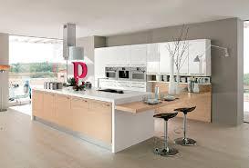 cuisine contemporaine blanche et bois cuisine blanc bois great la cuisine blanche et bois en photos