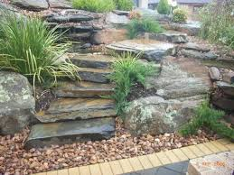 incredible garden rock features 1000 ideas about rock waterfall on