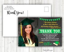 thank you graduation cards 10 graduation thank you card exles editable psd ai png
