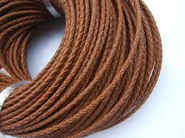 braided leather cord bracelet images 5 yards light brown 3mm round genuine real bolo braided leather jpg