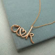 initials jewelry two lovers14k custom initials necklace by laladesignstudio on etsy