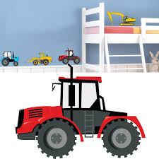 tractor and digger kids bedroom nursery wall stickers childrens tractor and digger kids bedroom nursery wall stickers childrens boys baby custom graphic decal amazon co uk kitchen home