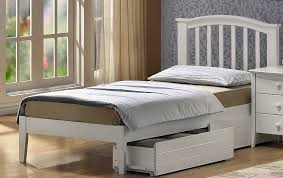 White Wood Single Bed Frame Brilliant Sleepland Deluxe Single Bed Frame Beds In White Wooden