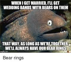 the bears wedding band wheniget married ill get wedding bands withbears on them that way