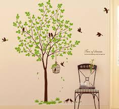 birdcage birds tree wall decals wallstickery
