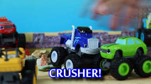 monster truck kids show blaze and the monster machines crusher song video dailymotion