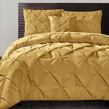 amazon com 4 piece mustard yellow comforter queen set pinch