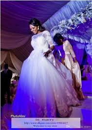 african plus size a line wedding dresses 2015 1 2 long sleeves