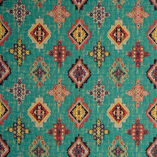 Tapestry Upholstery Fabric Discount Teal Red Woven Ikat Tapestry Upholstery Fabric Textured Coral