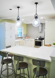 hanging two oversized glass kitchen pendants young house love