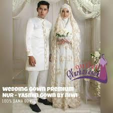 wedding dress syari baju nikah syar i muslimah modern yasmin wedding gown by nines
