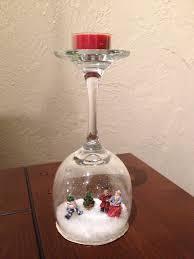 decor wine glass snow globe wine