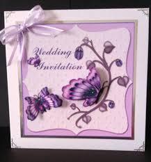 Wedding Invitations Purple Wedding Invitation Purple U0026 Cream Decoupage Card Front