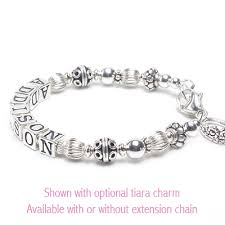 child charm bracelet images Baby bali name bracelet in all sterling silver for baby and jpg