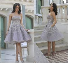 shiny glitz sparkling short cocktail dresses 2016 strapless knee